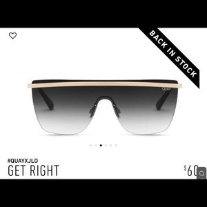 Quay x Jennifer Lopez Get Right Sunglasses NWOB